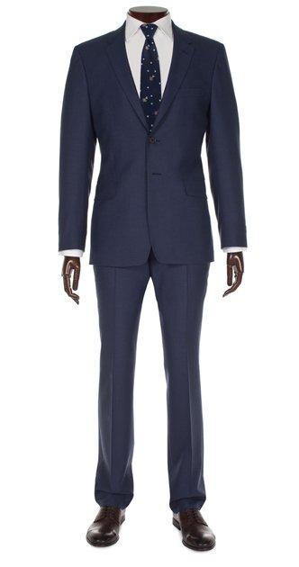 Navy Floral Suit