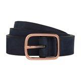 Navy Gloss Edge Belt