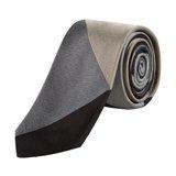 Narrow Grey Block Colour Tie