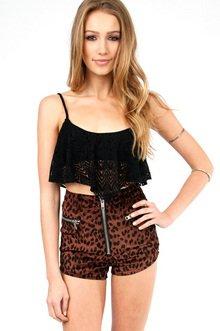 Hippie Dippy Crochet Cropped Tank $21
