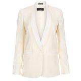Cream Shawl Collar Jacket