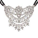 Black Mary Bib Necklace