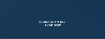 Tusina denim belt
