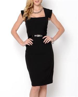 Taylor Avedon Belted Short Sleeve Dress