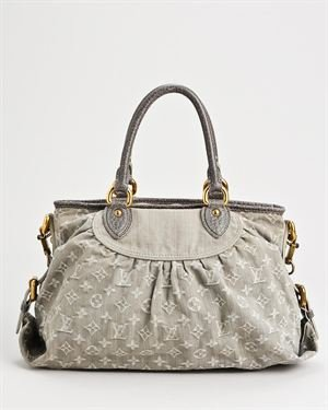 Louis Vuitton LU Monogram Denim Neo Cabby MM Satchel- Made in France