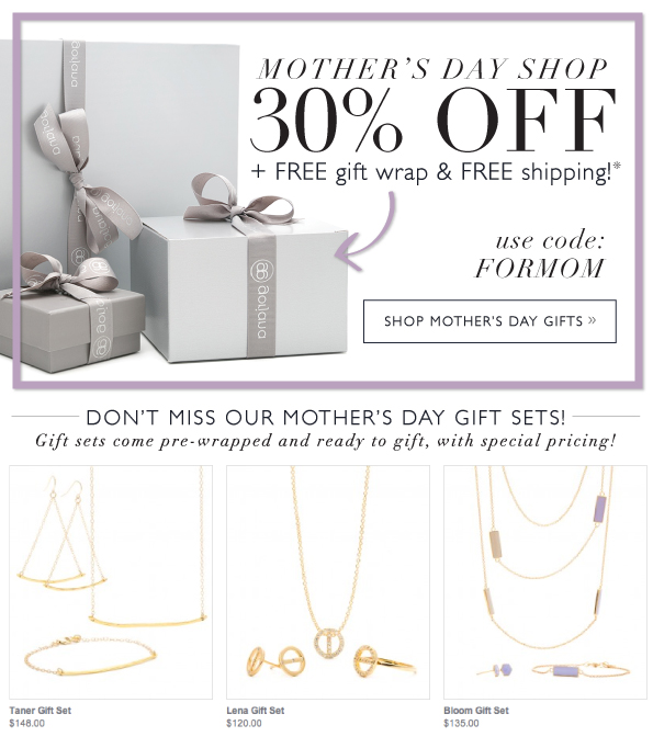 Mother's day Shop 30% Off