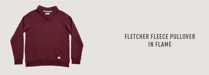 Fletcher Fleece Pullover In Flame