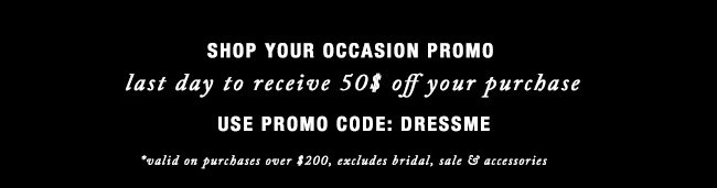 shop your occaision promo