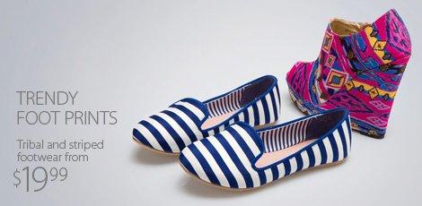 Trendy foot-prints