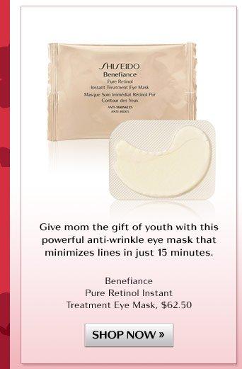 Benefiance Pure Retinol Instant Treatment Eye Mask