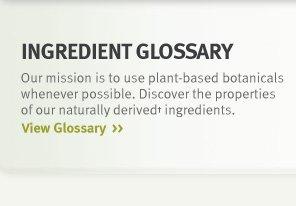 ingredient glossary.