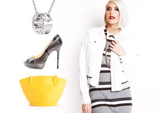 Color Crush: Yellow, Grey & White