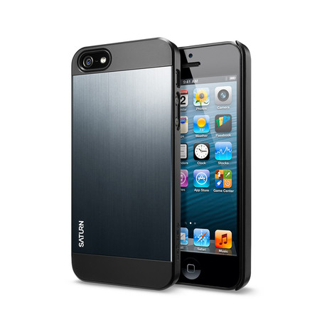 iPhone 5 Saturn Case // Metal Slate