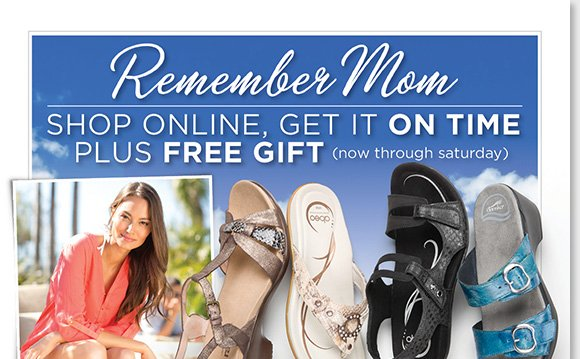 Give mom the gift of comfort this Mother's Day! Shop the best sandals from Dansko, ABEO, Raffini, ECCO, Taos, Sierra West, Aetrex and more. Enjoy a FREE Spa Kit with any regular-priced sandal purchase (details apply)!* Shop now to find the best selection at The Walking Company.