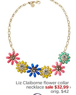 Liz Claiborne flower collar necklace sale $32.99
