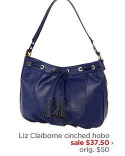 Liz Claiborne cinched hobo sale $37.50