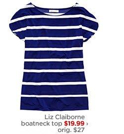Liz Claiborne boatneck top $19.99 ›