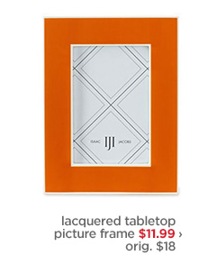 Iacquered tabletop picture frame $11.99 ›