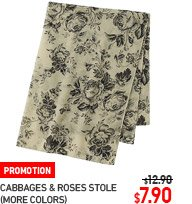WOMEN CABBAGES AND ROSES STOLE