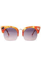 The Zesiro Sunglasses in Gold Cat Eye