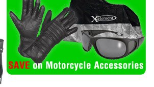 SAVE on Motorcycle Accessories!