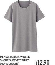MEN AIRISM CREW NECK SHORT SLEEVE T SHIRT