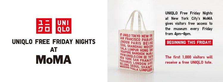 UNIQLO FREE FRIDAY NIGHTS AT MOMA STARTS THIS FRIDAY