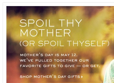 SHOP MOTHERS DAY GIFTS