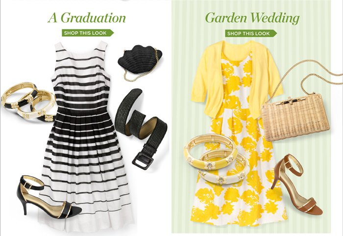 A Graduation. Shop this Look. Garden Wedding. Shop this Look.