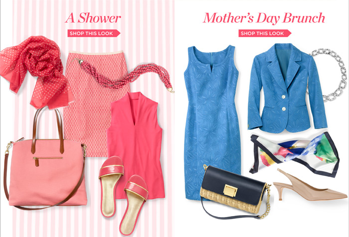 A Shower. Shop this Look. Mother's Day Brunch. Shop this Look.