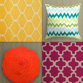 Refreshing Hues: Home Textiles
