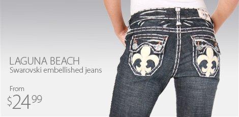 Laguna Beach Swarovski Embellished Jeans