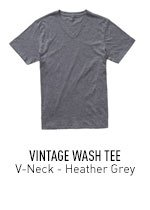Heather Grey V-Neck