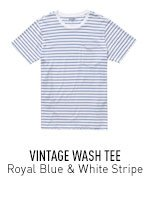 Royal Blue & White Stripe