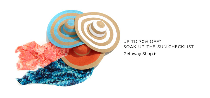 Up To 70% Off* Soak-Up-The-Sun Checklist