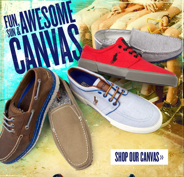 Be Awe-Inspiring in Canvas Kicks from Sperry, GBX and Polo