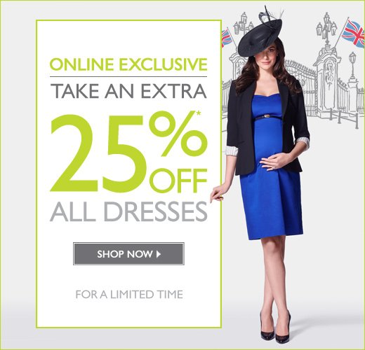 Online Exclusive: 25% OFF All Dresses - For a limited time