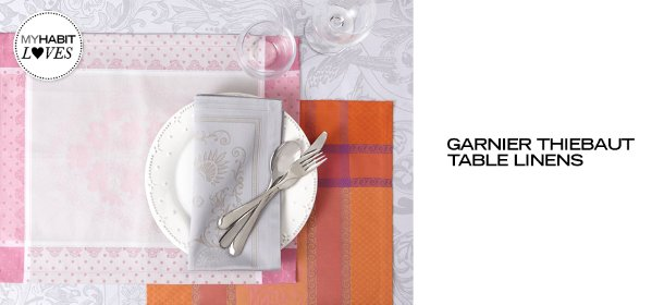 GARNIER THIEBAUT TABLE LINENS, Event Ends May 4, 9:00 AM PT >