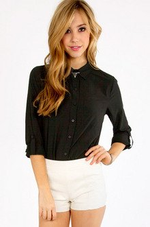 Loosen Up My Button Down Top $33