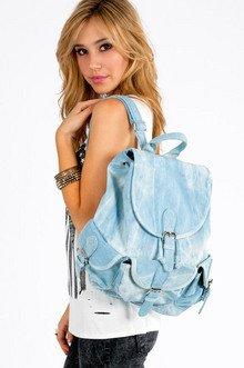 Debbie Denim Backpack $49
