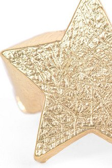 Scratched Star Ring $7