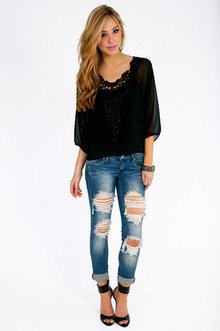 Flights of Embroidery Top $22