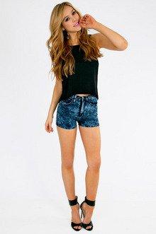 Cora High Waisted Shorts $33