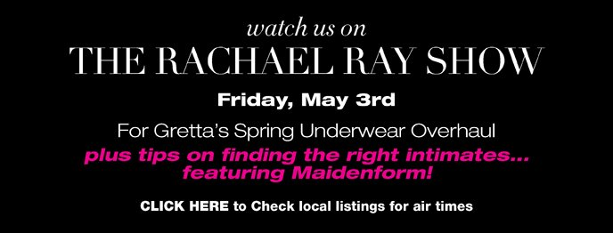 Watch us on The Rachael Ray Show - Friday May 3rd!