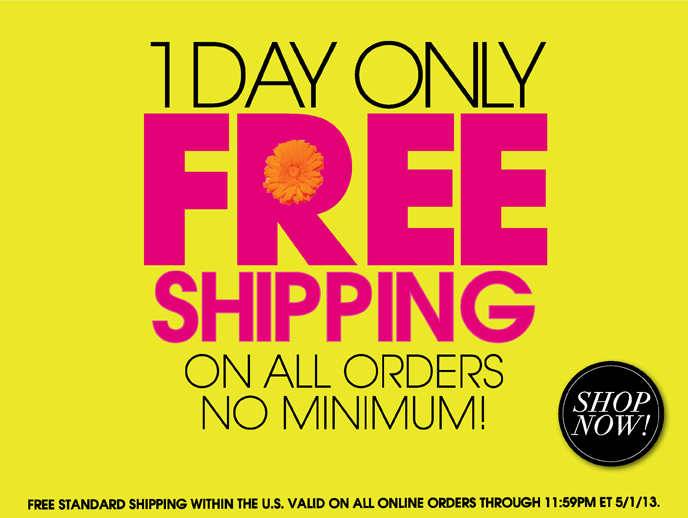 Free Shipping for May Day!