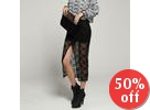 Slit-Front Lace Skirt