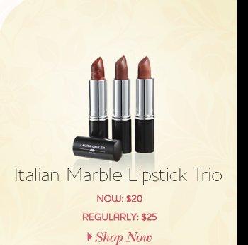 Italian Marble Lipstick Trio - NOW: $20 - REGULARLY: $25