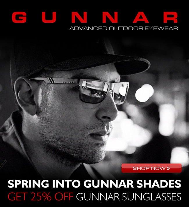 Spring Into Shades: Get 25% OFF GUNNAR Sunglasses