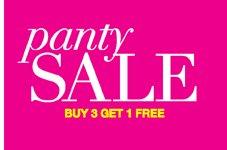 Panty Sale: Buy 3 Get 1 FREE