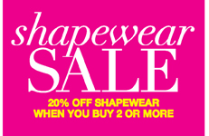 Shapewear Sale: 20% Off Shapewear when You Buy 2 or More